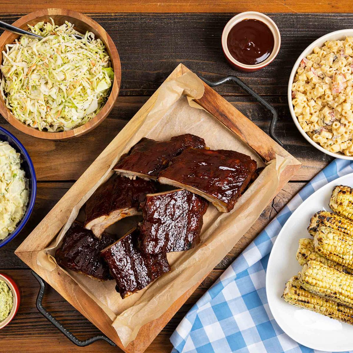 Memorial Day BBQ Baby Back Ribs Meal