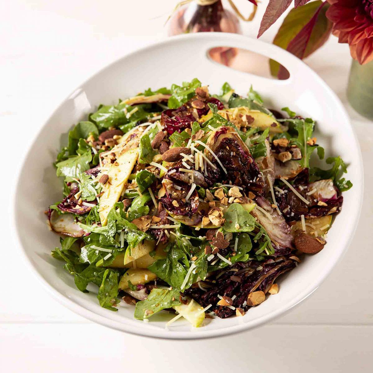 Apple, Arugula and Grilled Radicchio Salad