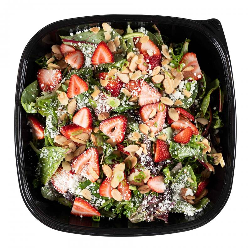 Strawberry Almond Salad with Goat Cheese