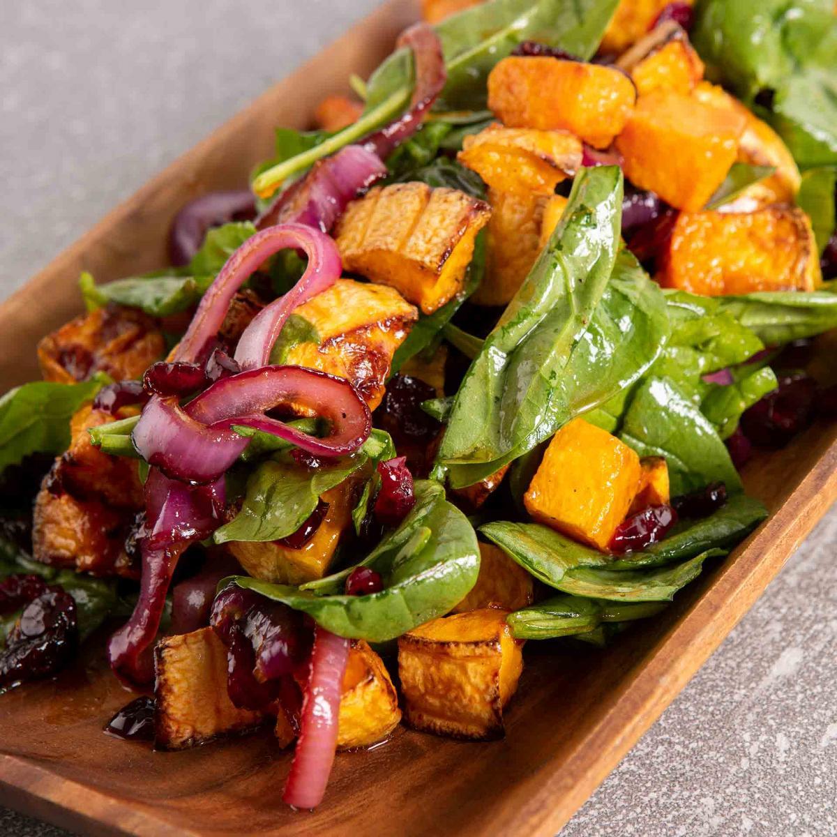Maple Roasted Butternut Squash Salad